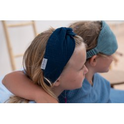 Muslin hairband for kids – dark blue