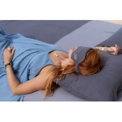 Muslin Jet Lag eye band with lavender