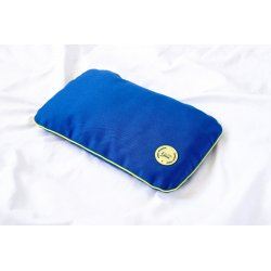 """Travel pillow with spelt hull 28x17cm - lime/lime/blue - Collection of """"Krystyno nie denerwuj matki"""""""