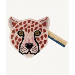Pinky Leopard Head Rug