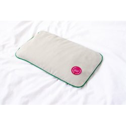 TRAVEL PILLOW WITH MILLET HUSK PINK/GREEN/GREY