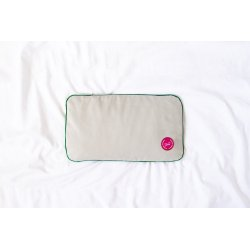 TRAVEL PILLOW WITH EMMER HUSK PINK/GREEN/GREY