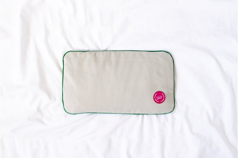 PILLOW WITH CHERRY STONE PINK/GREEN/GREY