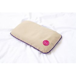 TRAVEL PILLOW WITH BUCKWHEAT HUSK PINK/VIOLET/OLIVE