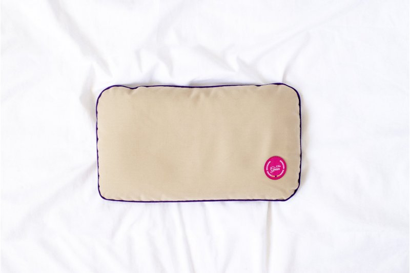 TRAVEL PILLOW WITH MILLET HUSK PINK/VIOLET/OLIVE