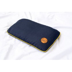 PILLOW WITH CHERRY STONE ORANGE/YELLOW/DARK BLUE