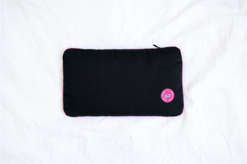 PILLOW WITH CHERRY STONE PINK/PINK/BLACK