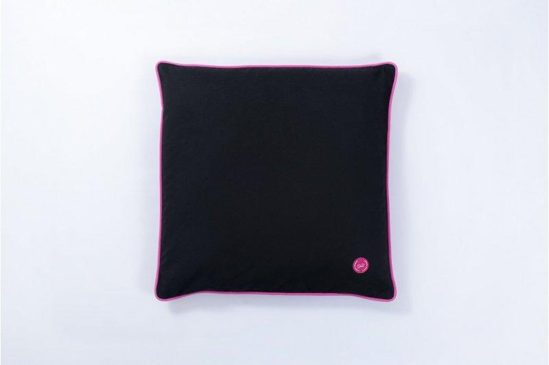 DECORATIVE CUSHION WITH BUCKWHEAT HUSK 50x50 PINK/PINK/BLACK