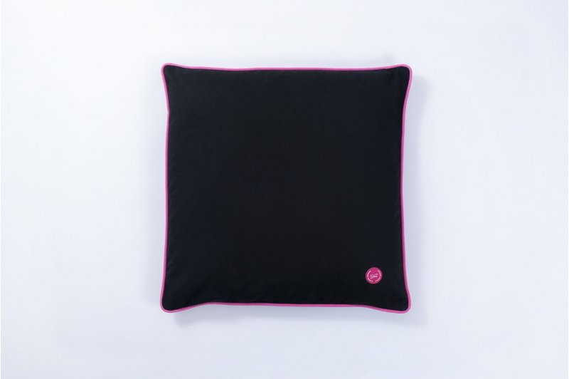 DECORATIVE CUSHION WITH MILLET HUSK 50x50 PINK/PINK/BLACK