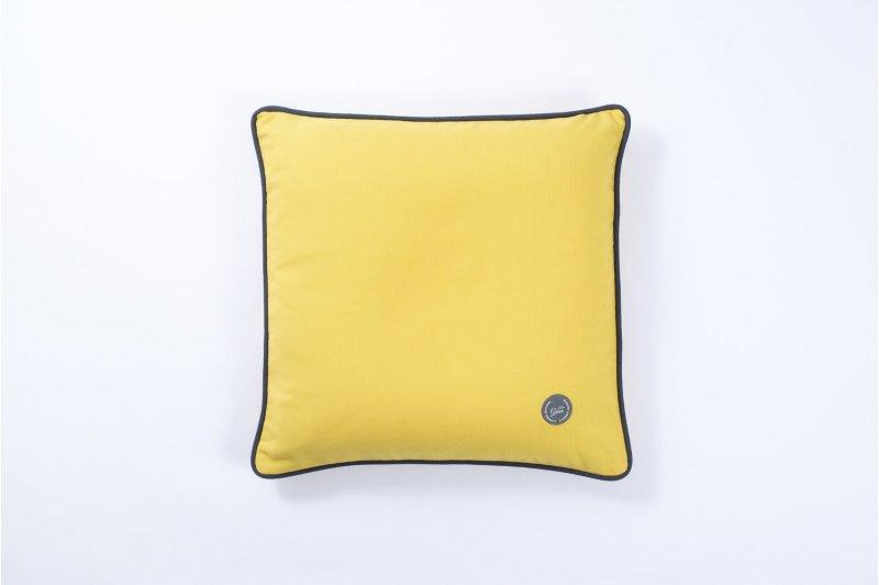 Poduszka Ozdobna Z łuską Prosa 40x40 Szaryszaryżółty