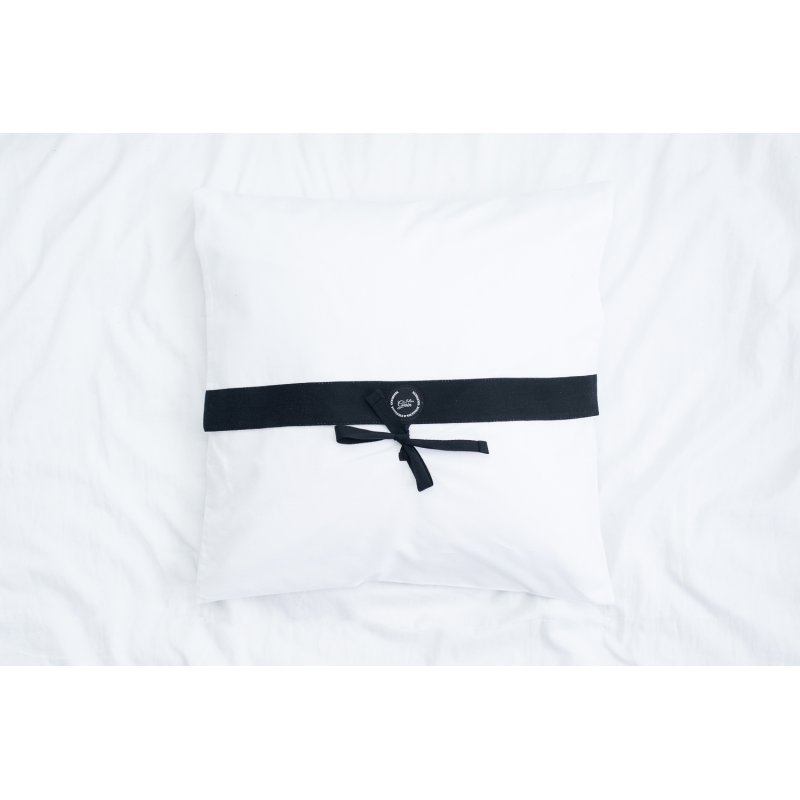 Pokrowiec biały na poduszkę Jaśka 40x40 cm bawełniany