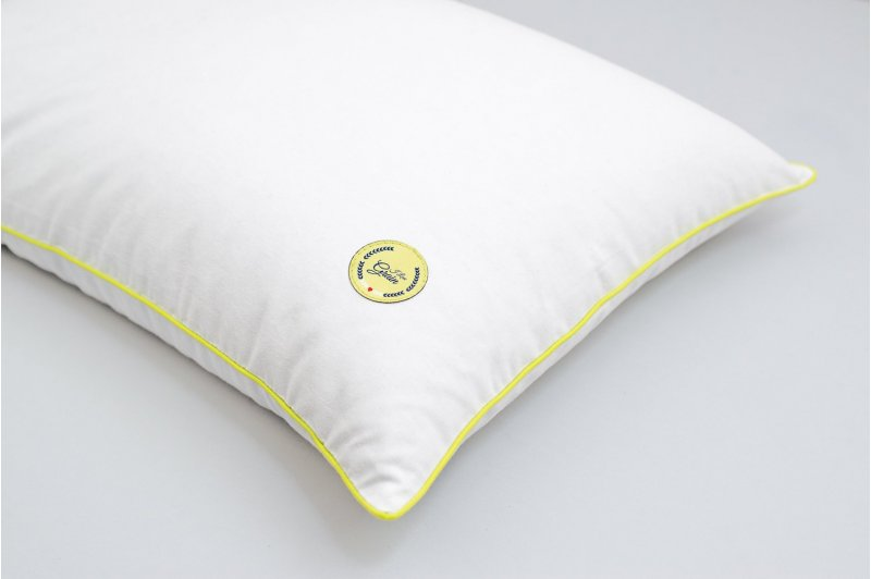 JUNIOR PILLOW WITH EMMER HUSK 35x55 LIME/LIME