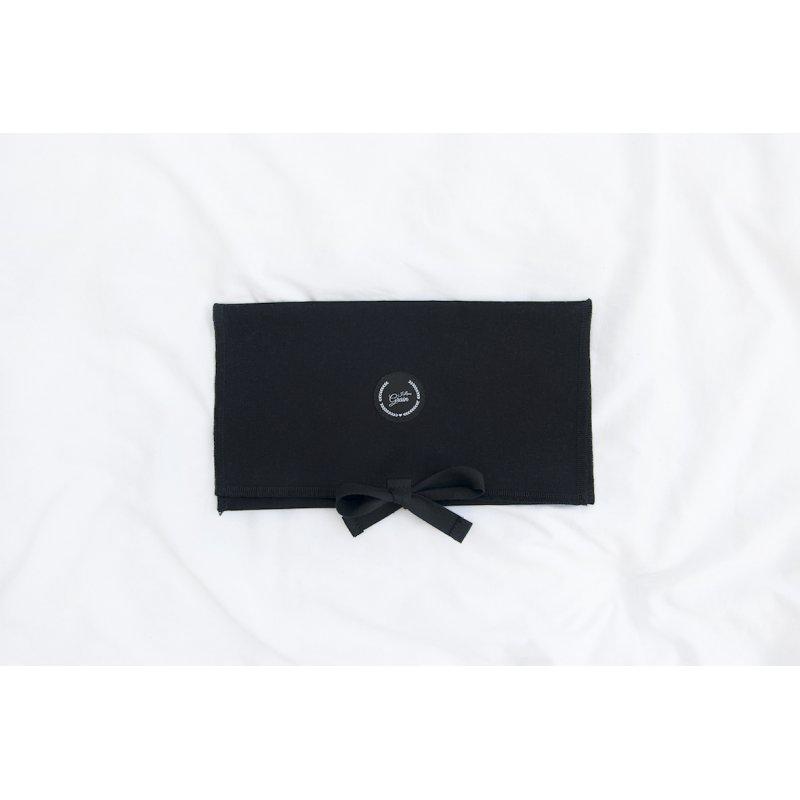 Pokrowiec czarny na poduszkę podróżną / termofor bawełniany
