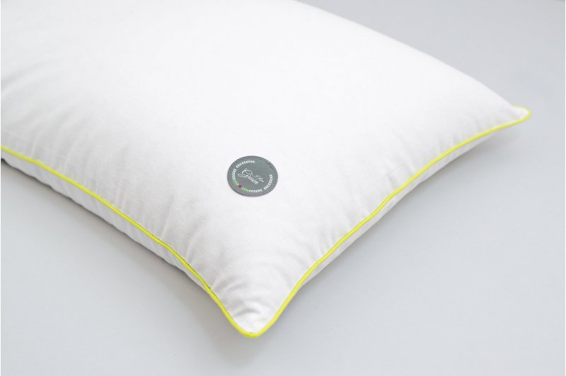 JUNIOR PILLOW WITH EMMER HUSK 35x55 GREY/LIME