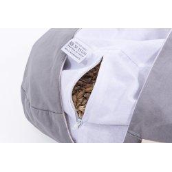 Meditation cushion 33x12 cm with buckwheat hull