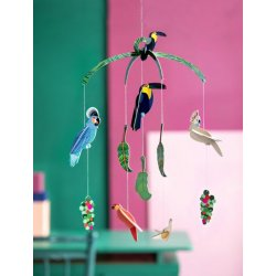 WALL DECORATION - EXOTIC BIRDS MOBILE