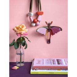 WALL DECORATION - PINK COMET BUTTERFLY