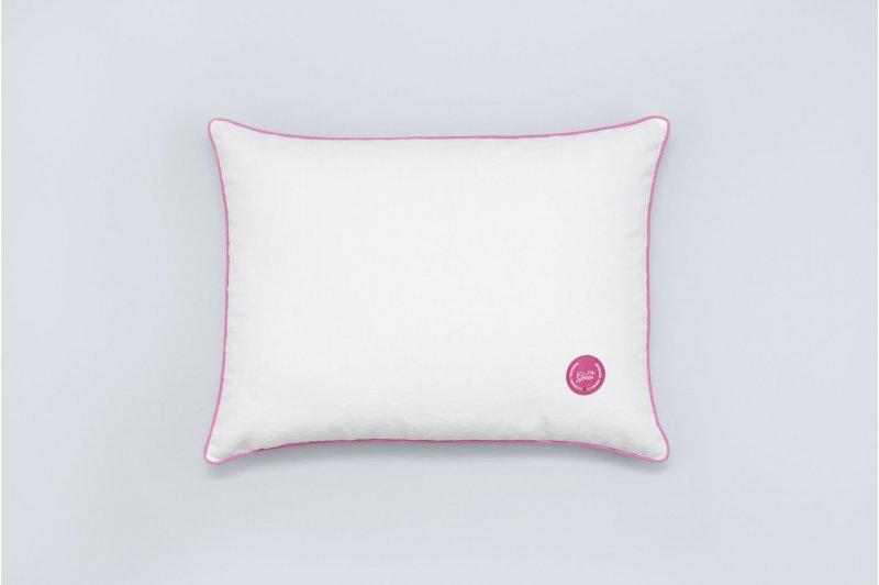 Gaja pillow with buckwheat hull 30x40 PINK/PINK
