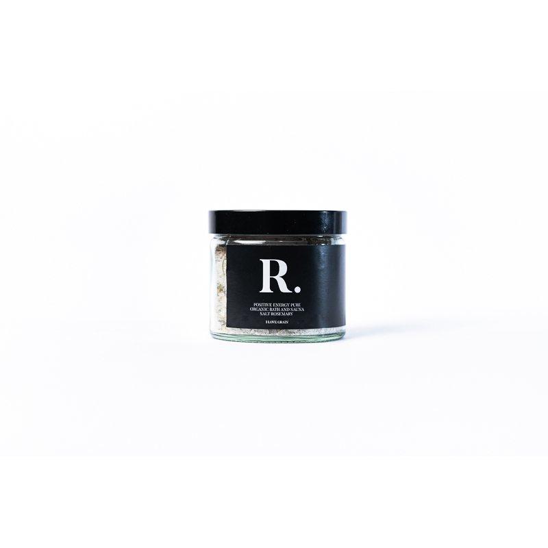 Bath salt with rosemary 250ml - R. Positive energy pure organic bath and sauna salt rosemary
