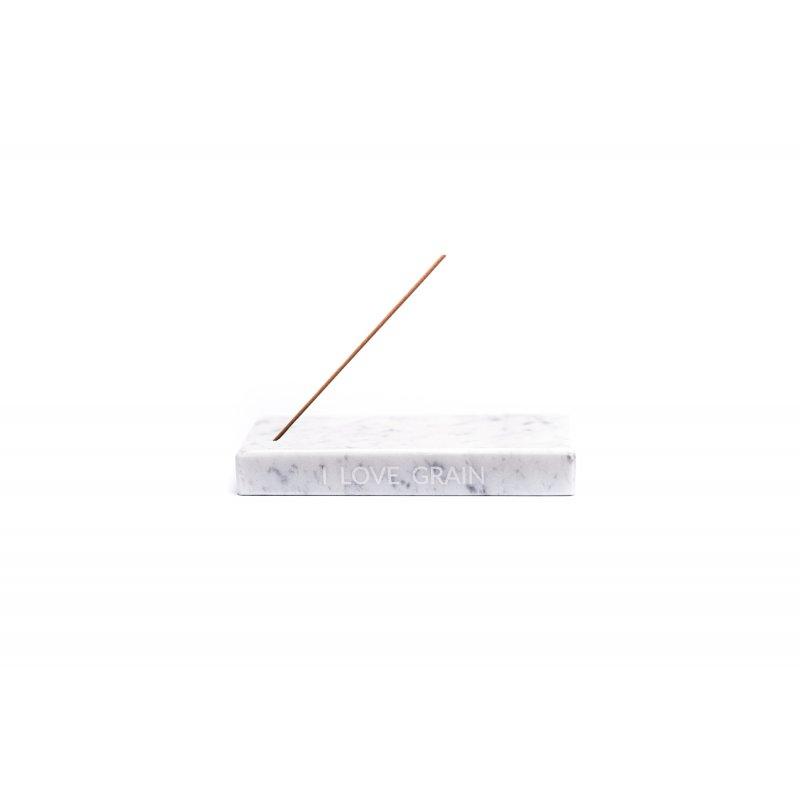 Marmurowa podstawka na kadzidełka - marmurowa biel