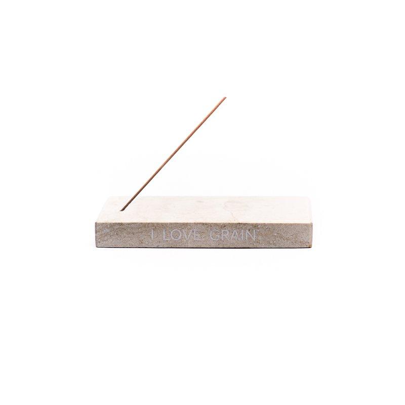 Marble incense holder - beige