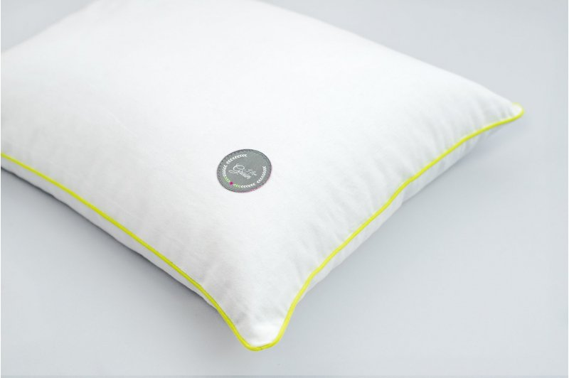 JAŚKA PILLOW WITH BUCKWHEAT 40x40 GREY/LIME